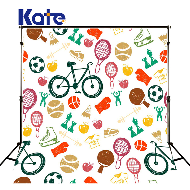 kate photography background 5x7ft kids cartoon backdrop sports bike