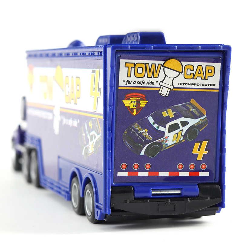 Disney Pixar Cars 2 Diecast Metal Lightning McQueen Mater MACK Paman Kartun Disney Angka Model Mainan Kendaraan Anak