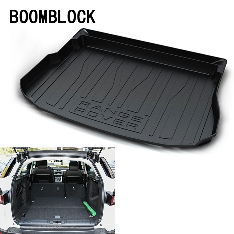 BOOMBLOCK For Range Rover Evoque 2010 2011 2012 2013 2014 2015 2016 2017 Waterproof Anti-slip Trunk Mat Tray Floor Carpet Pad 5drs for range rover evoque 2011 2016 inner car mat floor mats foot pad new accessories