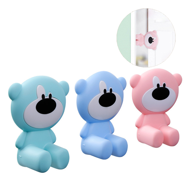 Baby Safety Gate Door Card Lock Newborn Security Care Finger Protection Anti Door Closed Stop Stopper Gate Corner Protector