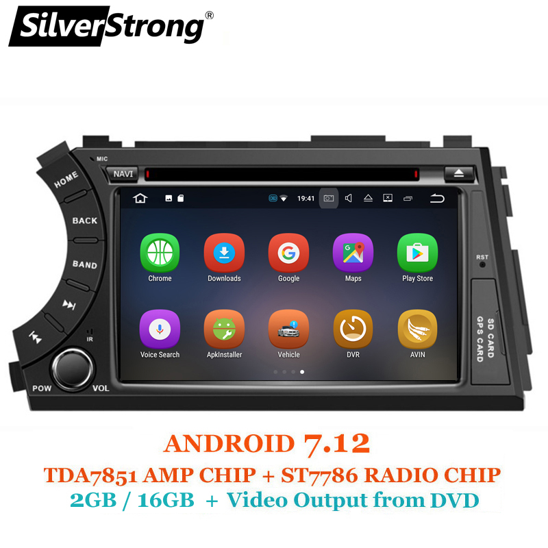 SilverStrong Android7.12 2DIN Car DVD for Ssangyong Actyon Kyron DVD Video output to headrest car gps 2 din for korando