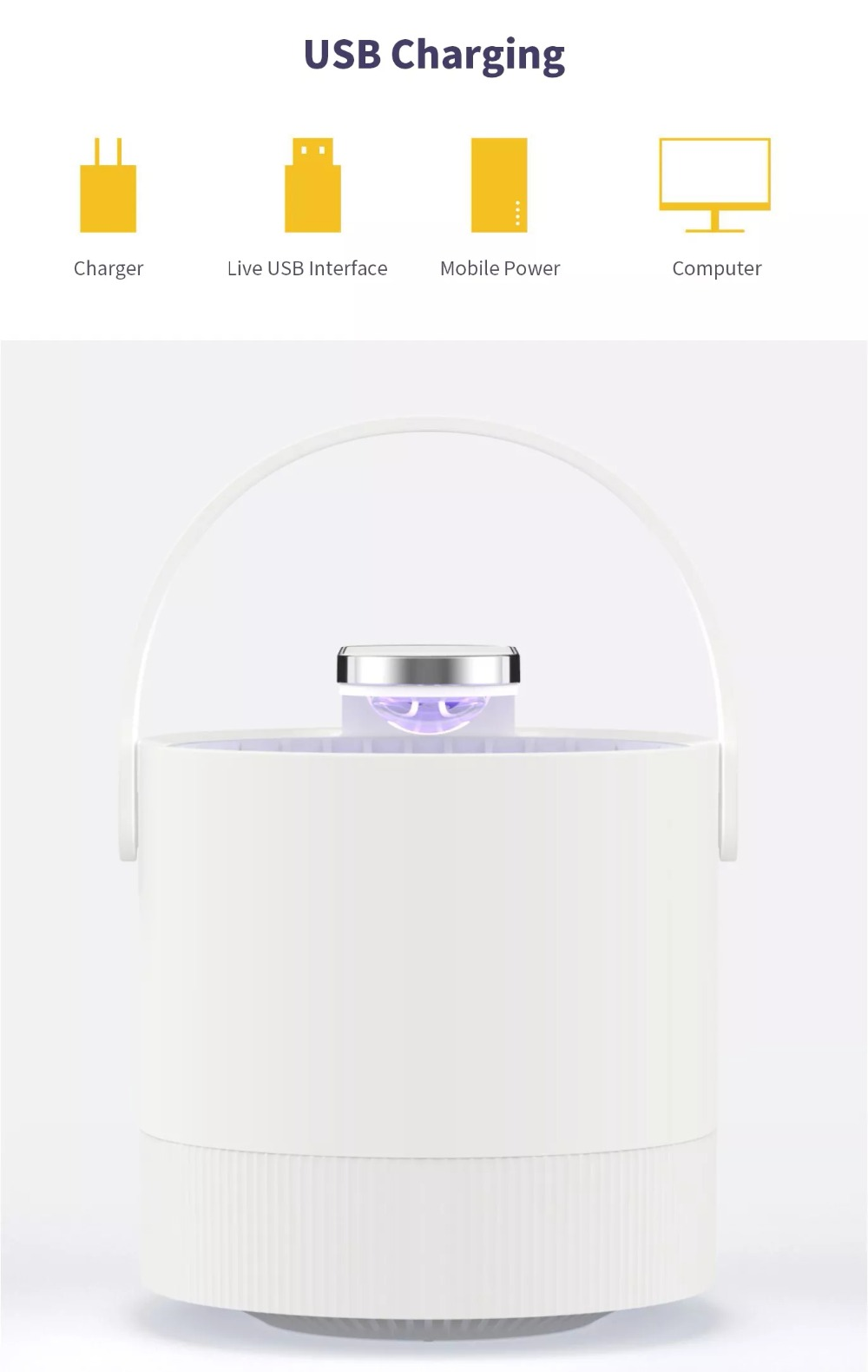 Newest Xiaomi Mijia Mosquito Killer Lamp USB Electric Photocatalyst Mosquito Repellent Insect Killer Lamp Trap UV smart Light (3)