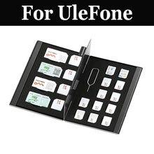 21 в 1 Алюминий Портативный SIM микро-контактный разъем Dual SIM карты Nano карта памяти для UleFone power Mix 2 S8 pro Мощность 3 Броня 5 S Мощность 3 S