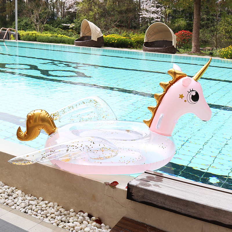 Girlish Inflatable Flamingo 116CM Unicorn Pool Floats Tube Raft Swimming Floats Circle Water Bed Boia Piscina Adults Party Toys