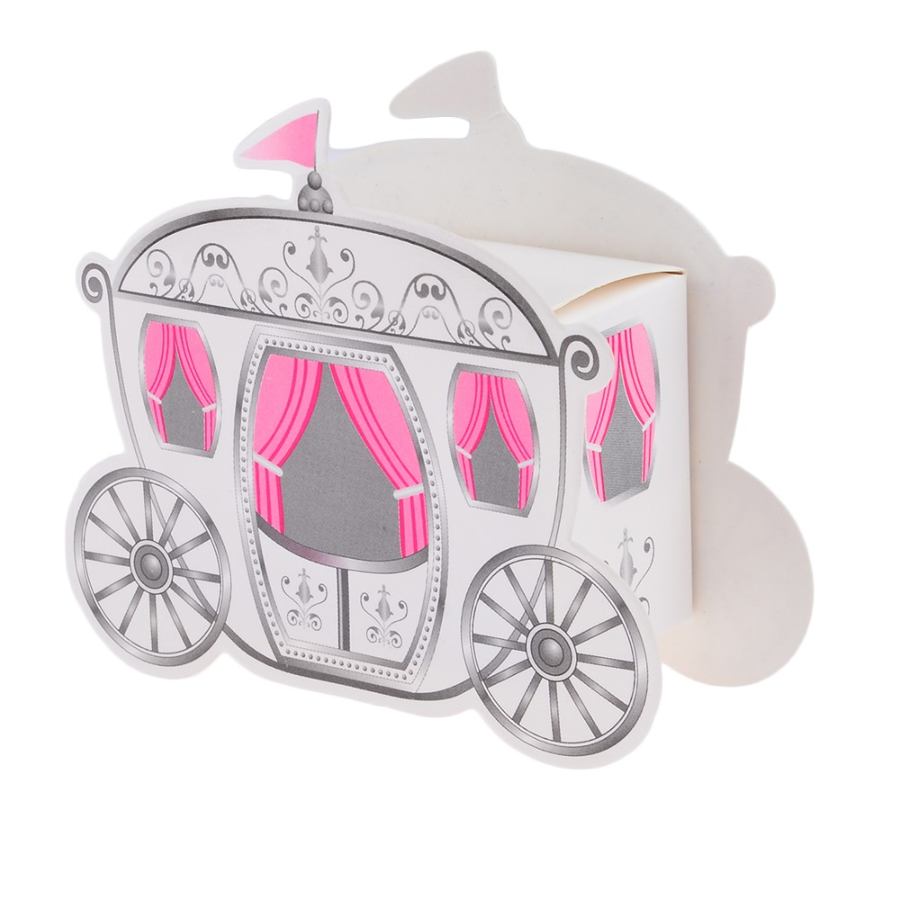 10pcs Miniature Paper Pumpkin Carriage Candy Gift Box For Princess Wedding  Party Guests Present Cinderella Package Europe Style In Party Favors From  Home ...