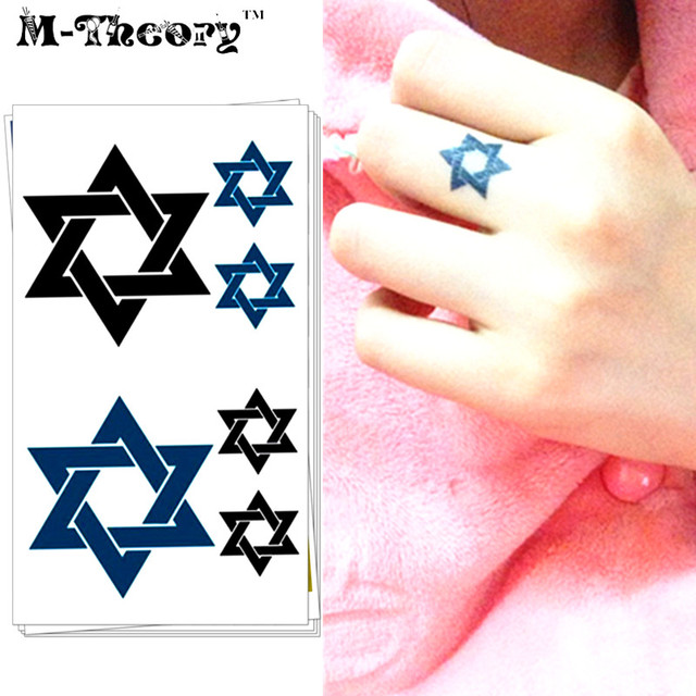 M Theory Choker Makeup 3d Temporary Tattoos Body Art Stars Of David