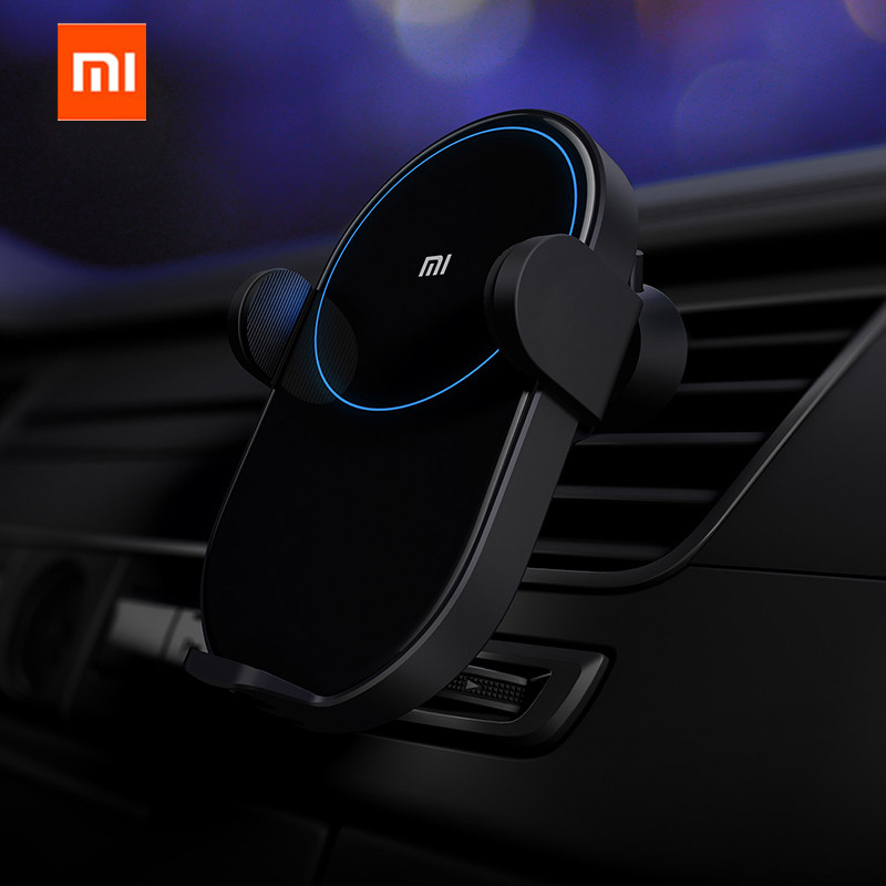 US $38.12 7% OFF|2019 Xiaomi Mijia Qi Wireless Car Charger 20W Max Electric Auto Pinch 2.5D Glass Ring Lit For Mi 9 MIX 2S iPhone X XS MAX|Smart