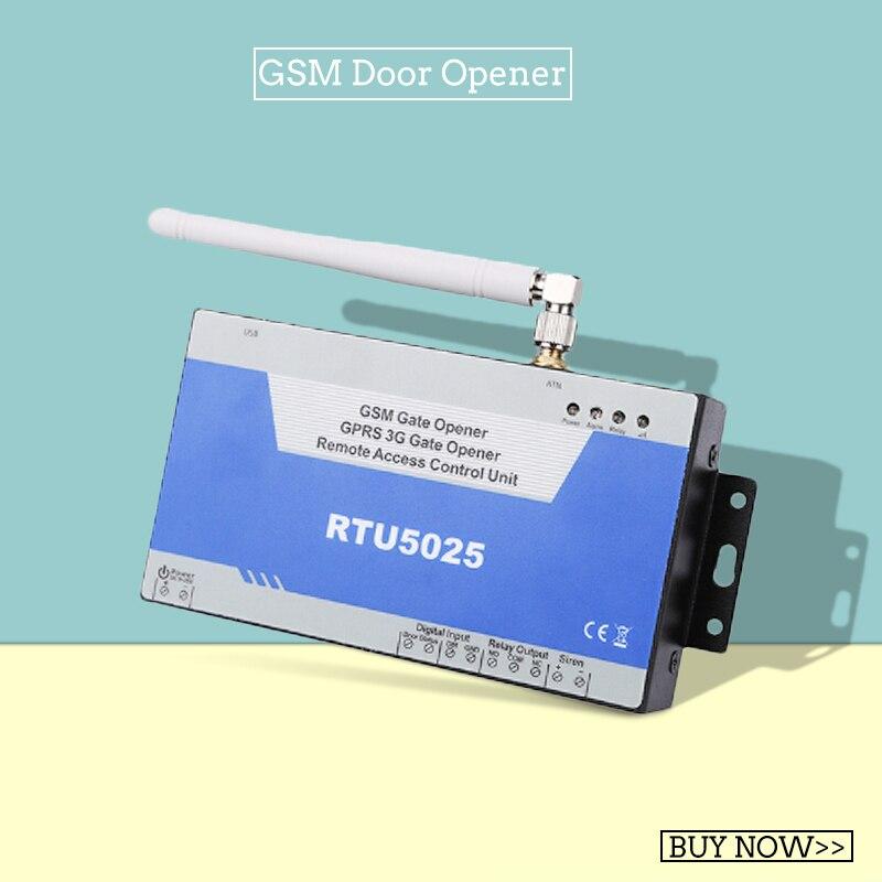 Abridor de Porta de Portão GSM Abridor GPRS 3G (RTU5025) unidade de Controle de Acesso 999 usuários Porta aberta remoto/Barreira/Obturador/Porta Da Garagem
