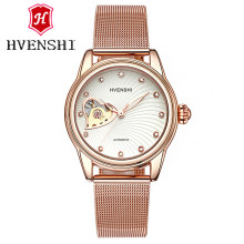 HVENSHI Watch women Automatic Waterproof Top Brand Mechanical Watches Full Stainless steel Rose Gold Clocks Elegant Ladies Watch