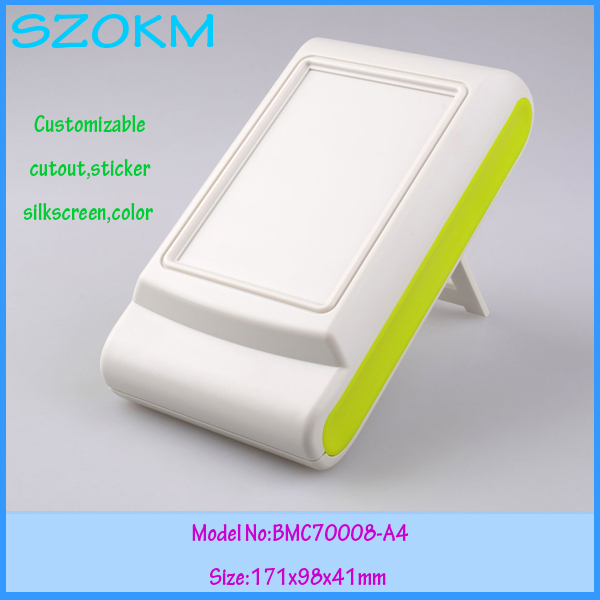 1 piece free shipping abs plastic handheld enclosures for electronics abs green color control box plastic