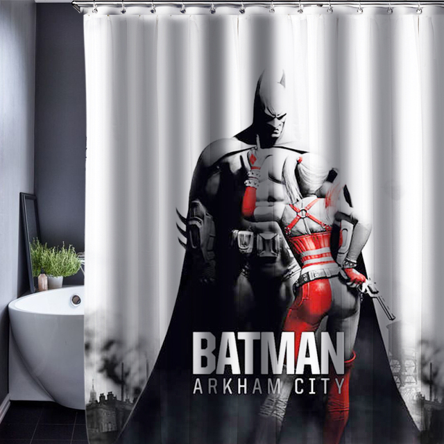 Aliexpress.com : Buy Batman Shower Curtain Pattern Customized Shower ...