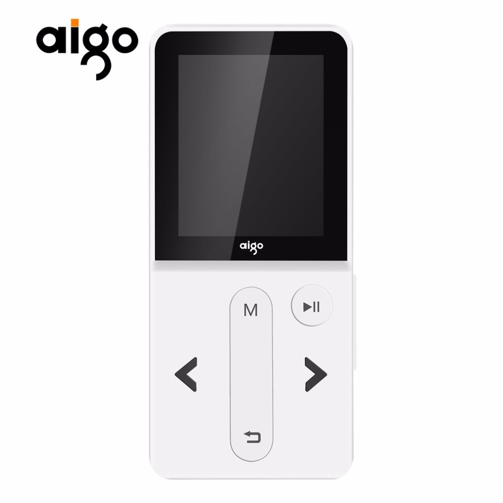 Aigo Fashion MP3-207 Portable Music Player 1.8inch TFT Screen Display Rechargeable MP3 Player Support Audio Video