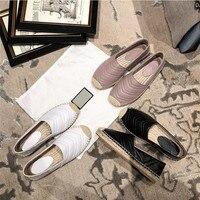 Новинка; женские эспадрильи; обувь из натуральной кожи на плоской подошве; женские повседневные Лоферы наивысшего качества; сезон весна осе