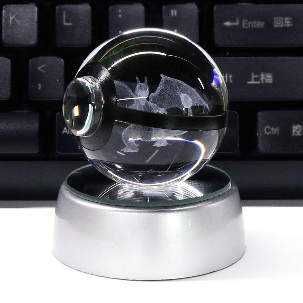 Charizard 3D Crystal Ball Pokemon Go 5CM үстелге - Түнгі жарық - фото 3