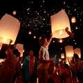 10 pcs Lâmpadas Chinês Desejando Lanternas do Céu Kongming Voando Lanternas de Papel Redondo Balão de Festa de Casamento Decoração do Festival Mundial