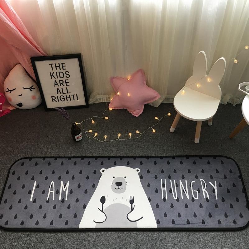 Последние 50*180 см В ЕВРОПЕ ПОПУЛЯРНЫ голодный медведь ковры противоскользящие Спальня коврики для Гостиная Кухня Туалет Коврики введите дв... ...