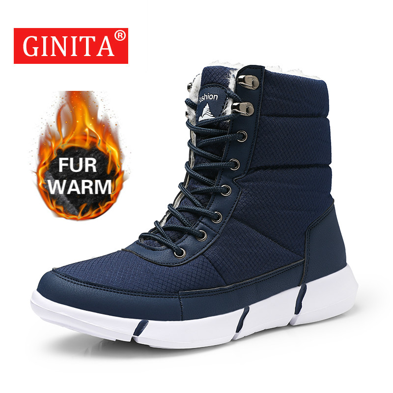 Snow-Boots Waterproof Winter Unisex Lightweight Warm Man Plush Fur Ankle for Male Men