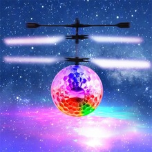 For Drop Shipper light-up RC Flying Ball Kids Flight Balls Electronic Infrared Induction Aircraft LED Light Mini Helicopter