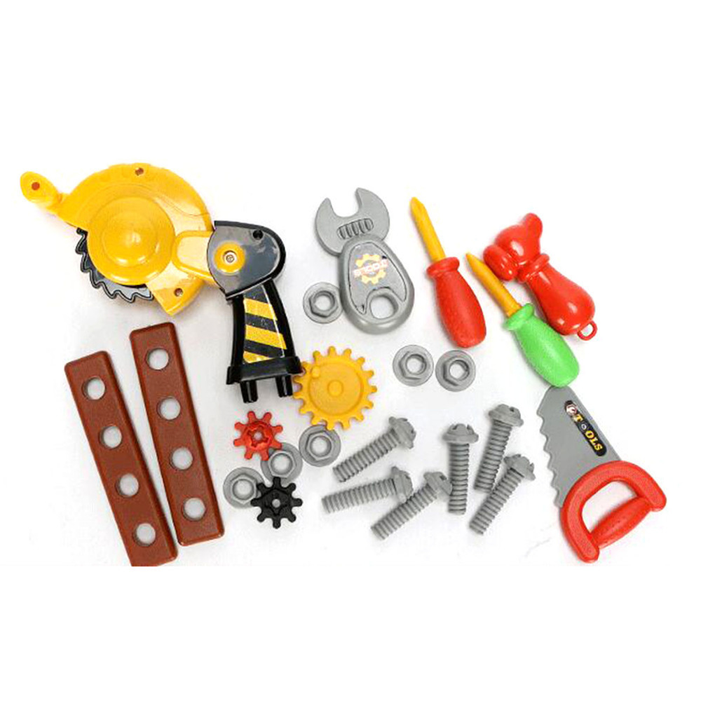 Tool Toys Pretend Pretend Play Kids Suitcase Garden Carpentry Tool Box Hobbies Set Baby Boy Plastic Chainsaw Hammer XWJ236