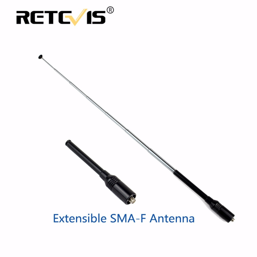 bilder für 1 stücke Retevis RT-773 Extensible Antenne SMA-F FEMALE VHF UHF Antenne Für Baofeng UV5R 888 S Retevis H777 RT5R Walkie Talkie C9023A