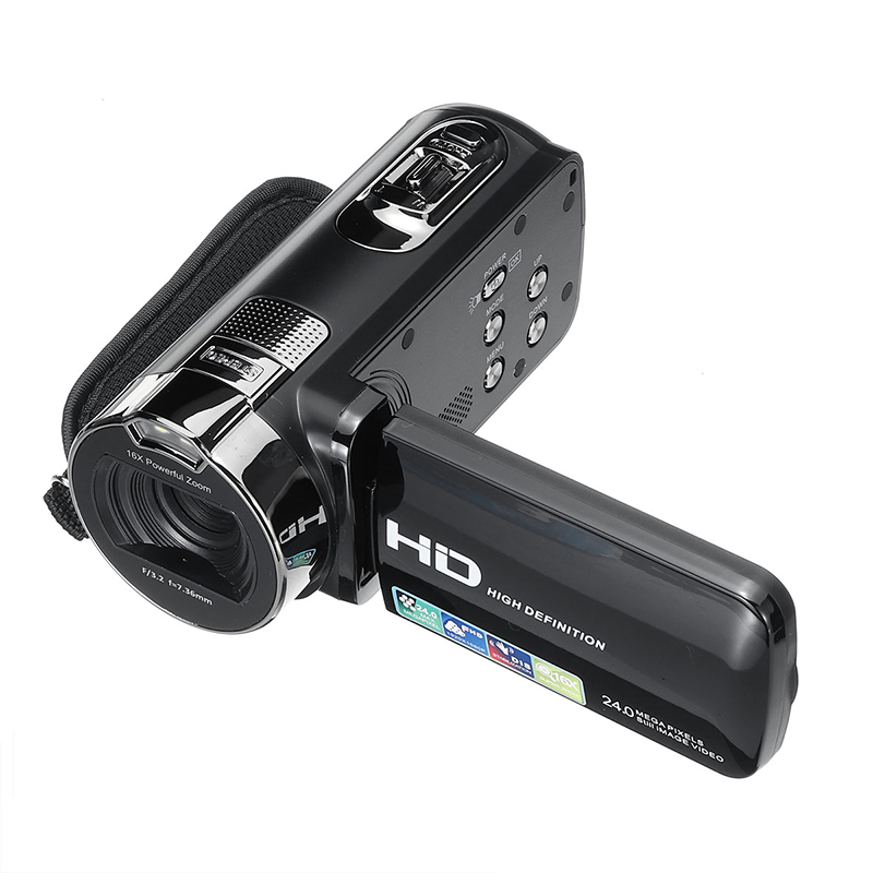 KINCO 1080P HD Video Camcorder Handheld 24 Million Pixels Digital Camera LED Flash 16x Digital Zoom Camcorder DV Recorder