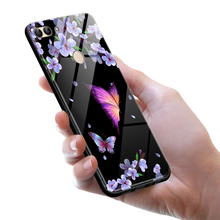 Tempered Glass Case for Huawei P Smart Full Cover + Screen Protection Film Enjoy 7S