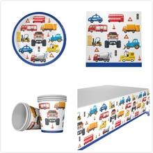 Engineer Car 20pcs napkins+20pcs cups+20pcs plates+1pcs tablecover for KIDS birthday party decoration supplies 20people use 20pcs d4186 aod4186 sot252