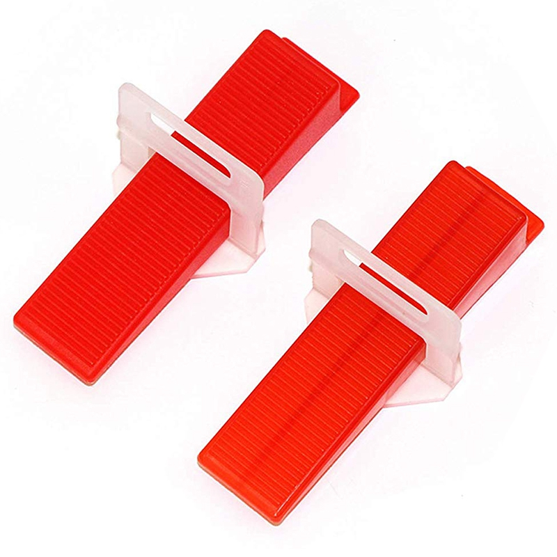 Tile Leveling System Diy Tiles Leveler Spacers 1/8 Inch 300Pcs Leveling Spacer Clips Plus 100Pcs Reusable Wedges