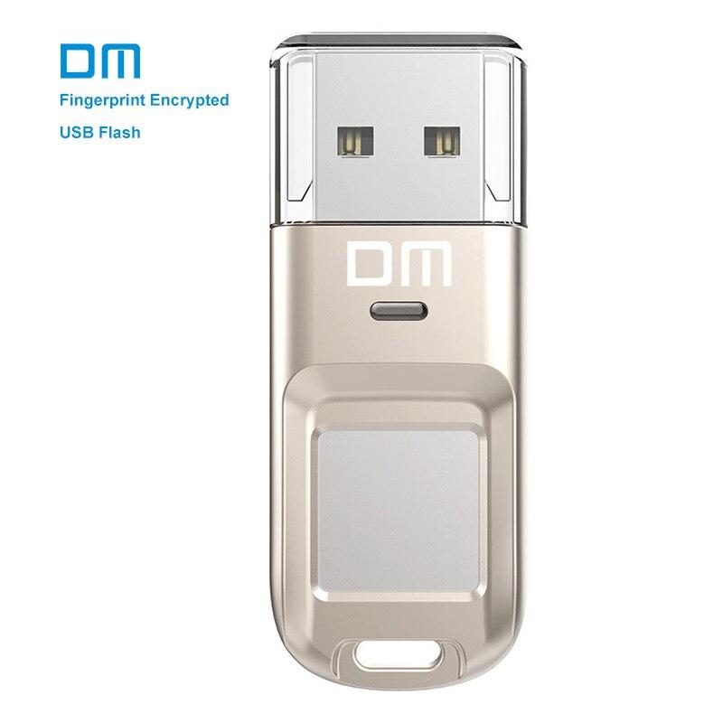DM PD065 de alta velocidad unidad flash USB Reconocimiento de huellas dactilares cifrado usb stick 32 GB 64 GB pen drive seguridad memoria USB 2.0 disco