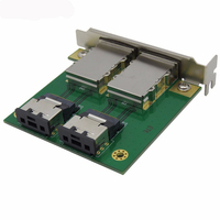 Mini SAS SFF 8088 to SFF 8087 Adapter Board 36Pin to 26Pin PCI Half Height Bezel Adapter Card for Server Array