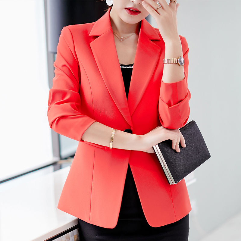 Flight Tracker 2019 Solid Womens Blazers Coat Spring Autumn Long Sleeve Business Jacket Coat Black Pink Slim Fit Ladies Work Ol Suit Tops Blue Suits & Sets Back To Search Resultswomen's Clothing