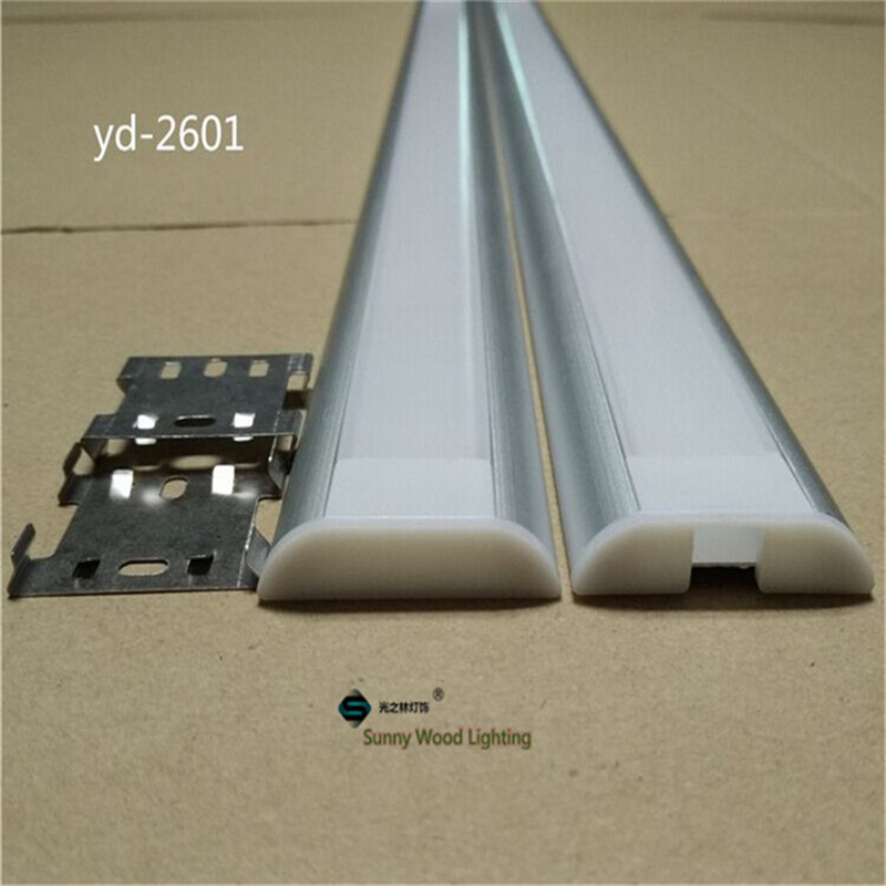 2-10pcs/lot 0.5m/pc Wide Range Aluminum Profile For Double Row Led Strip,26mm Pcb Bar Light Housing,led Light Guide Channel