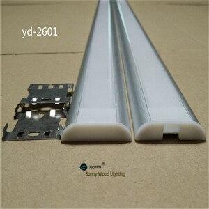Image 1 - Алюминиевый профиль для двухрядной светодиодной ленты, 26 мм, 2 10 шт./лот, 0,5 м/катушка