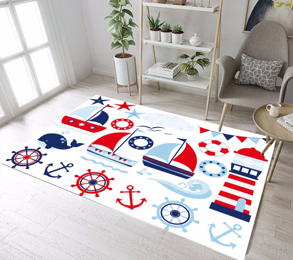 Sailing Away Boy Area Rugs And Carpets