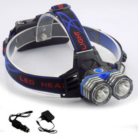 High Power Headlamp Cree 2 T6 Leds Headlight Usb Port LED Lanternas Frontal Head Light Lamp
