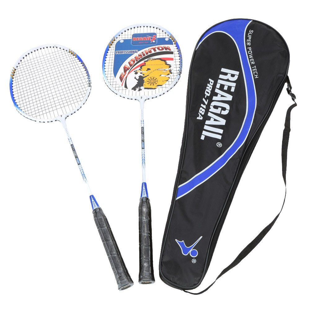 New Lightweight Badminton Set 2Pcs/Set Durable Aluminium Alloy Training Badminton Racket Racquet With Badminton RacketBag