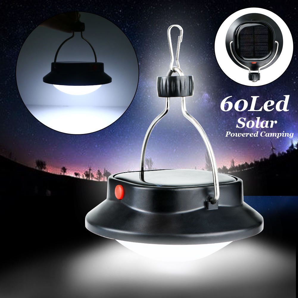 IP65 60 Led Outdoor Camping Tent Nightlight Hanging Adventure Lanters Portable Solar Powered Light Garden Lamp Hunting Hiking