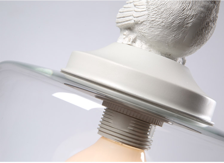 LuKLoy Resin Bird Pendant Lamp Light Nordic Glass Lights Lighting for Loft Kitchen Dining Room Ceiling Bedroom Decoration (17)