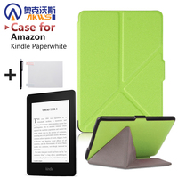 folio case for Amazon Kindle Paperwhite 1 2 3 origami stand magnetic PU leather cover case
