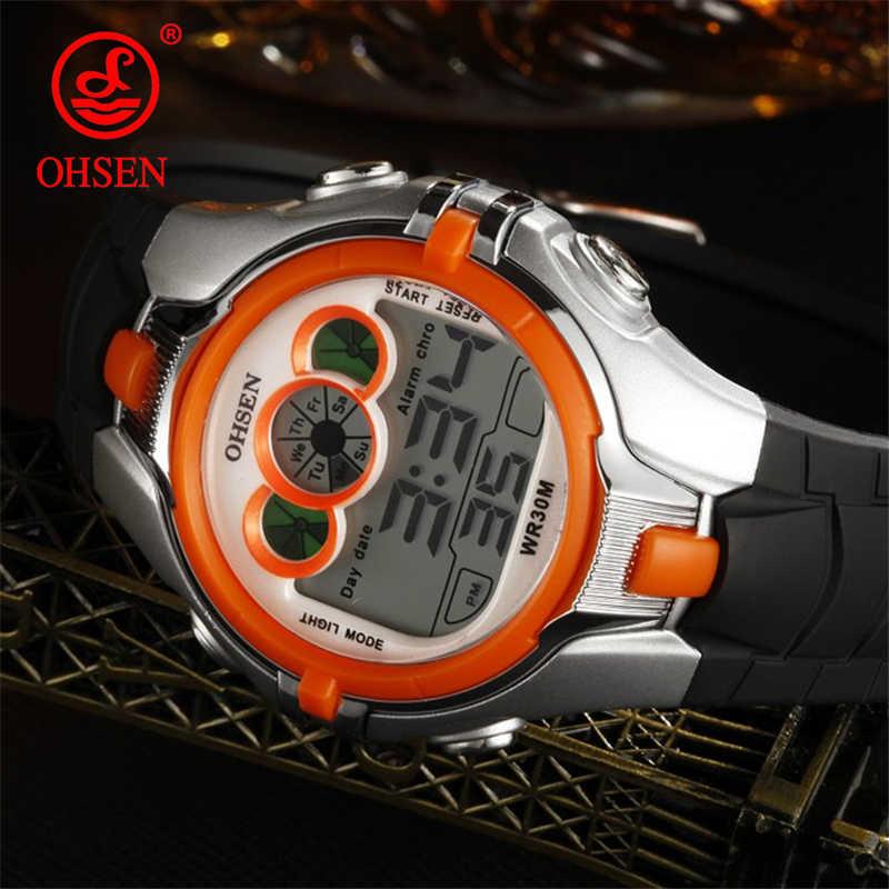 OHSEN Brand Children Watches LED Digital Multifunctional Waterproof Wristwatches Outdoor Sports Watches for Kids Boy Girls Reloj