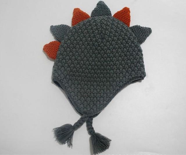 Dinosaur Hat Baby Winter Knitted Beanie Boy Caps Dinosaur