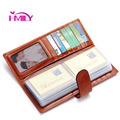 HMILY Genuine Leather Card Case Large Capacity 60 Card Slots Business Credit Card Holder Long Bank Card Wallet Vintag ID Holders