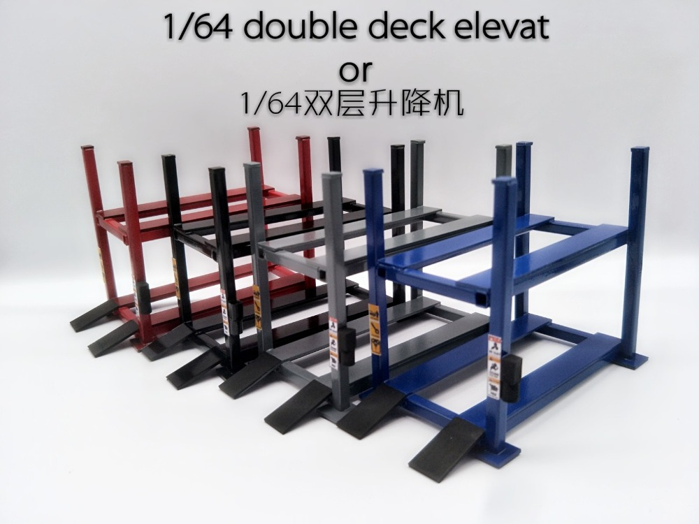Model Car Lift 1:64 1:43 1:24 1:18 Double Single Deck Elevator Garage Repair Station Stand For Model Vhicle Static Not Moveable