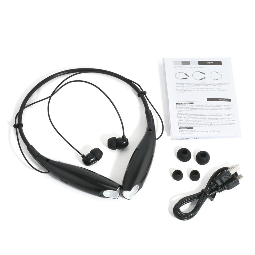 HBS730 Bluetooth Headset Stereo 4.1 Wireless Bluetooth Headset Headphone Earphone WaterproofHBS730 Bluetooth Headset Stereo 4.1 Wireless Bluetooth Headset Headphone Earphone Waterproof