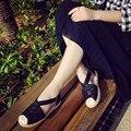 Venta caliente de Primavera y Verano del Bordado Ahueca Hacia Fuera Las Mujeres Zapatos Planos Ocasionales Resbalón En Zapatos de Mujer de Moda Punta Redonda Pisos HSC34