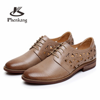 Genuine sheepskin Leather casual shoes Yinzo brogue ladies flat shoes sneakers oxford Woman Shoes casual brown beige red 2018