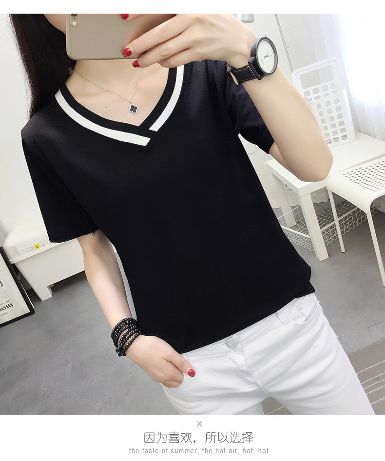 4XL 5XL Plus Size Korean Women's Clothing Fashion Big Size T-shirt Female V neck Short Sleeve Casual obesity Tee Shirt Top Femme 40