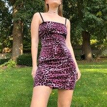 68a7fe23c36b 2019 Spring Women Sexy Pink Leopard Print Mini Dresses Party Night Club  Vestidos Bodycon Slim Fit