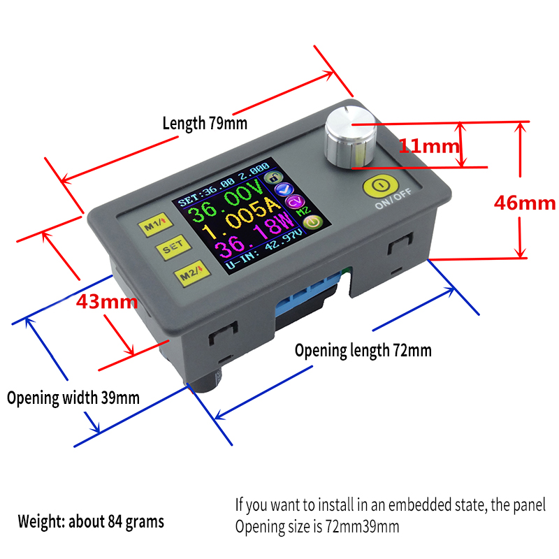 Image 4 - DP50V5A Digital Control DC Power Supply Adjustable Buck Module Integrated Voltmeter Ammeter Color Screen 50V 5A-in Integrated Circuits from Electronic Components & Supplies