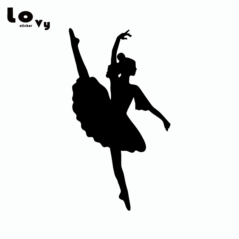 Cartoon Ballerina Silhouette Vinyl Car Sticker Craft Ballet Dancer Car Decor Decal Car Sticker Vinyl Car Stickerscar Decoration Aliexpress